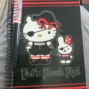 Sanrio hello Kitty pirate theme notepad/pen